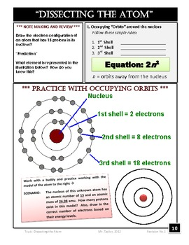 ATOMS & PERIODIC TABLE NOTE PACKET - 2 UNITS | TpT