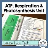 ATP, Photosynthesis and Cellular Respiration Unit Bundle- PPT, Activities, Test