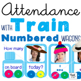 ATTENDANCE TRAIN for PHOTOS - Wagons with Numbers & Number Spellings 1-30