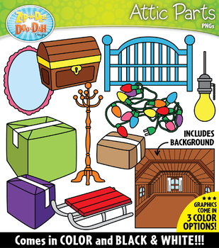 ATTIC Parts of a House Clipart {Zip-A-Dee-Doo-Dah Designs}