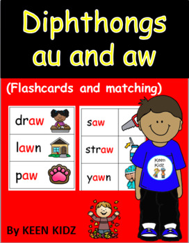 AU AND AW FLASHCARDS AND MATCHING
