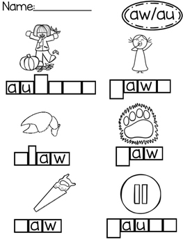 AU AW No Prep Phonics Pack