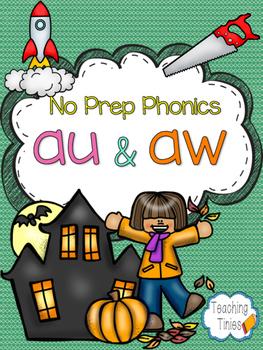 AU AW No Prep Phonics Pack