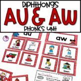 AU & AW Phonics Activities and Worksheets