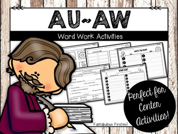 AU & AW Word Work Activities