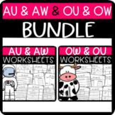 AU & AW and OW & OU Worksheets
