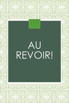 AU REVOIR French Poster