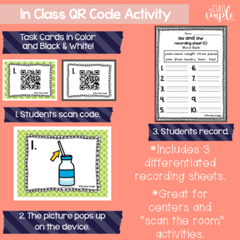 AU and AW QR Code Task Cards