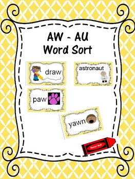 AU and AW Word Sort