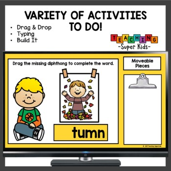 Diphthongs AU and AW Word Work Activities