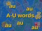 AU words Slideshow and Spelling Activities