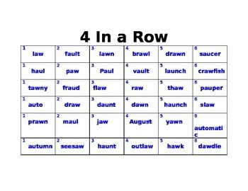 AU/AW Four-In-A Row