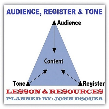 READING - AUDIENCE REGISTER TONE: LESSON AND RESOURCES