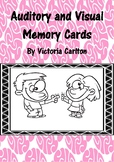 AUDITORY AND VISUAL MEMORY CARDS