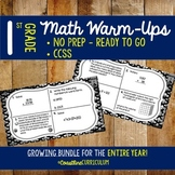 1st Grade ENTIRE YEAR Math Warm-Ups Growing Bundle