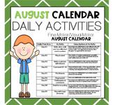 AUGUST Fine Motor/Visual Motor (Daily Activities)
