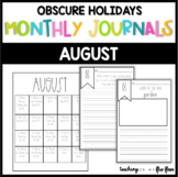 AUGUST: Monthly PRINT & GO Foldable Writing Journals: Obsc