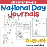 AUGUST National Days Differentiated Journals for special e