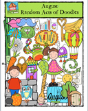 AUGUST Random Acts of Doodles {P4 Clips Trioriginals Digital Clip Art}