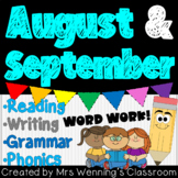 1st Grade AUGUST/SEPTEMBER Lesson Plan Bundle with Activities & Word Work!