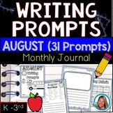 AUGUST Writing Prompts Journal K-3
