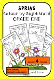 AUS-SPRING Themed: Colour by DOLCH Sight Word (GRADE 1) Li