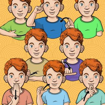 Auslan Clip Art (Set 1) - Common Verbs - Personal License