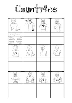 AUSLAN- Countries label and match up
