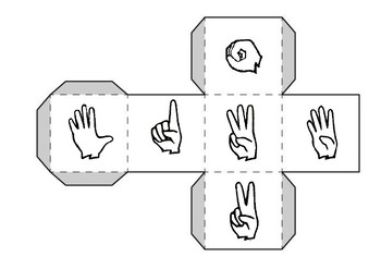 AUSLAN - numbers 0-12-  roll and colour the Nike shoe