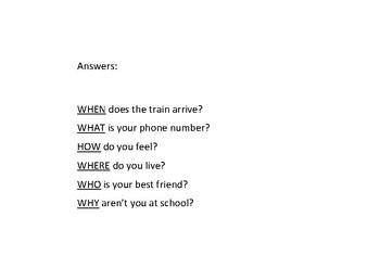 AUSLAN - question words