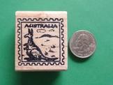 AUSTRALIA Country/Passport Rubber Stamp