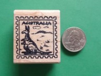 AUSTRALIA Country/Passport Rubber Stamp