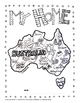 AUSTRALIA DAY COLORING MAP