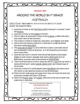 AUSTRALIA Guided Reading - TN Around the World In 3rd Grade