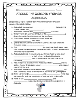 AUSTRALIA Guided Reading - TN Around the World In 3rd Grade
