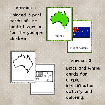 Australia Learning Pack:  Reading Materials, Activity Pages and Cards