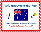 AUSTRALIA NATIONAL ANTHEM Easy Tone Chimes & Bells ADVANCE AUSTRALIA FAIR
