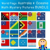AUSTRALIA & OCEANIA World Flags Hundred Chart Mystery Pictures BUNDLE