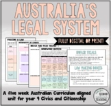 AUSTRALIA'S LEGAL SYSTEM - YEAR 9 PRINT OR DIGITAL UNIT