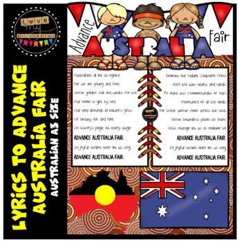 Advance Australia Fair - Full Lyrics, A3 size