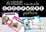 AUSTRALIAN ANIMALS GROUPWORK POSTERS