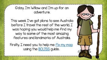 AUSTRALIAN Geography Lesson and Activites - BOLTSS, MAPPING, LANDMARKS