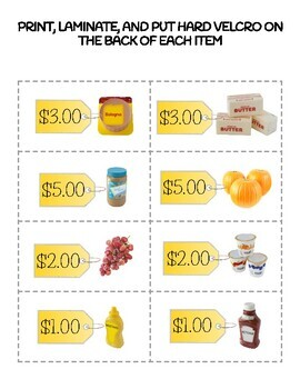 AUSTRALIAN How Much Does It Cost? Task Box Activity
