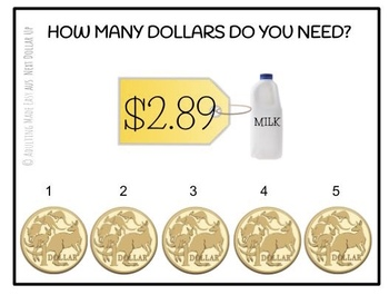 AUSTRALIAN Next Dollar Up {Up to $5} Task Cards #austeacherbfr