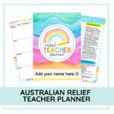 AUSTRALIAN RELIEF TEACHER PLANNER - EDITABLE