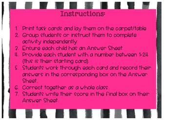 AUSTRALIAN Second Grade Maths Scoot