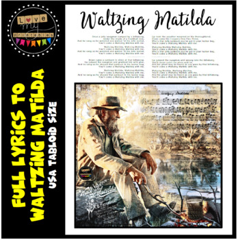 Waltzing Matilda - Full Lyrics, USA Tabloid size