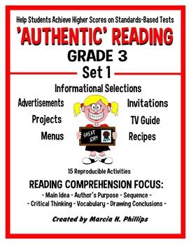 AUTHENTIC READING - GRADE 3 SET 1 (Of 8)