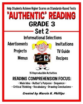 AUTHENTIC READING - GRADE 3 SET 2 (Of 8)