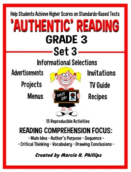 AUTHENTIC READING - GRADE 3 SET 3  (Of 8)